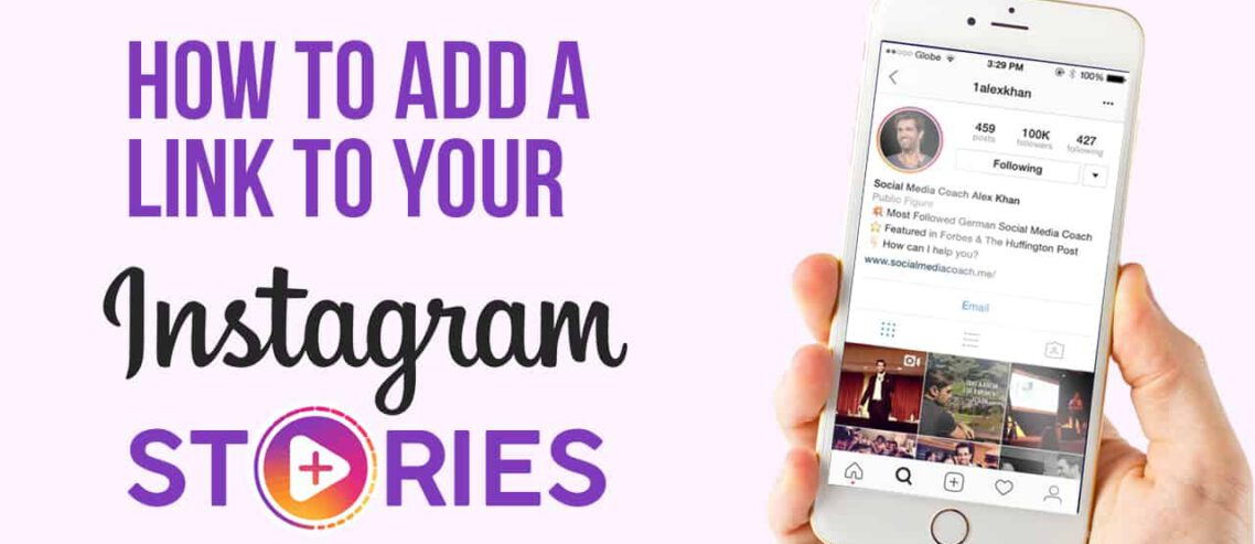 How to add link to instagram story